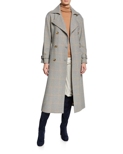 Linford Plaid Wrapped Coat and Matching Items