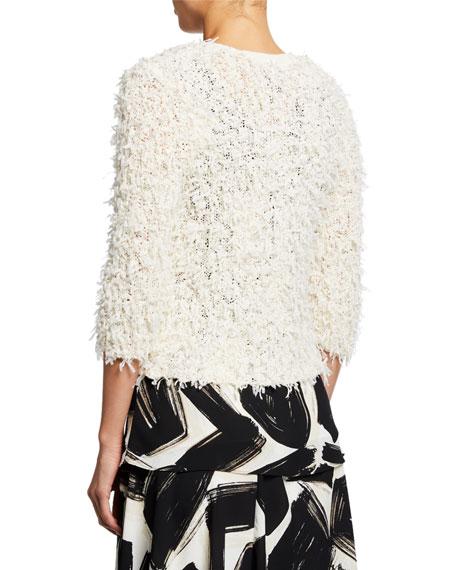 NIC+ZOE Plus Size Plush Party 3/4-Sleeve Fuzzy Cardigan