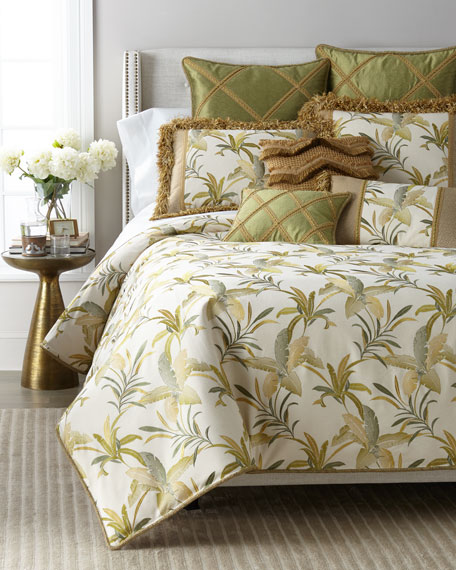 Dian Austin Couture Home Botanical Embroidered King Duvet