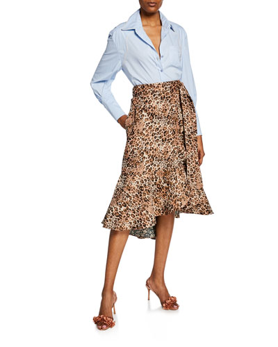 Ruched-Sleeve Western Style Shirt  and Matching Items