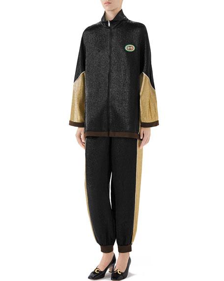 Gucci Shimmer Crepe Kimono Jacket