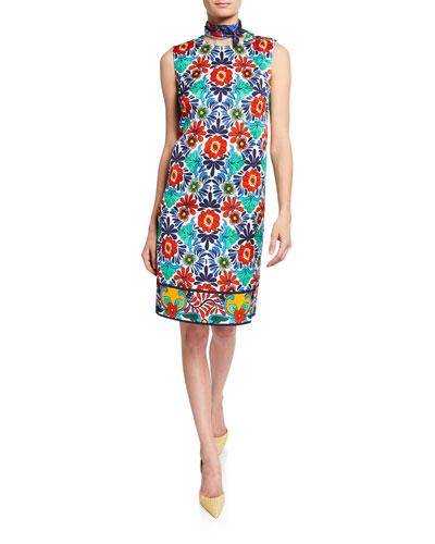 Ceramic-Print Sheath Dress and Matching Items