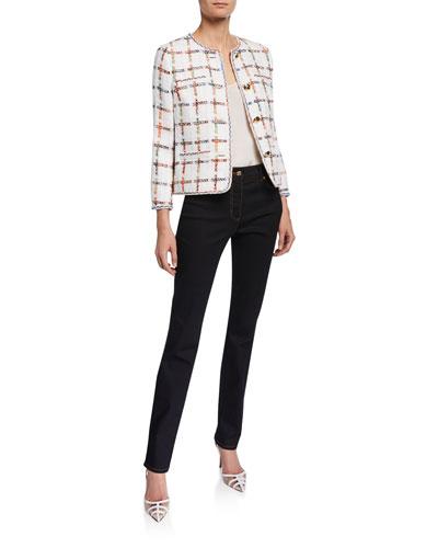 Windowpane Tweed Jacket and Matching Items