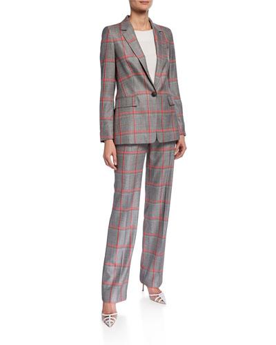 Begastu Oversized Plaid Jacket and Matching Items