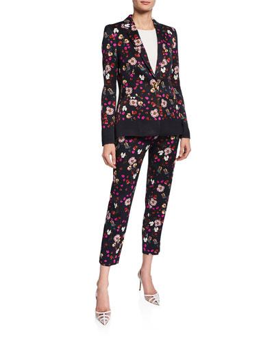Talaranto Floral Jacquard Pants and Matching Items