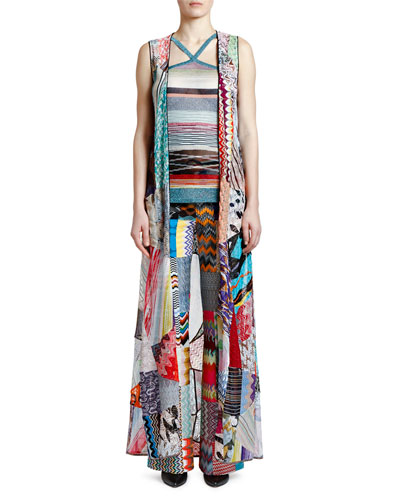 Long Patchwork Vest and Matching Items