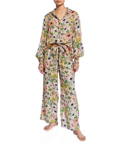 Melina Floral-Print Pajama Shirt and Matching Items