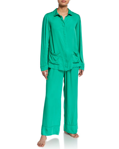 Rana Long-Sleeve Pajama Shirt and Matching Items
