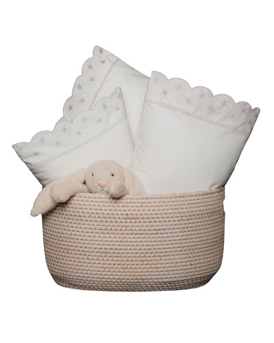 Twinkle Crib Pillowcase  White/Pink  and Matching Items