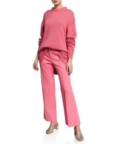 Cropped Flare-Leg Trousers and Matching Items