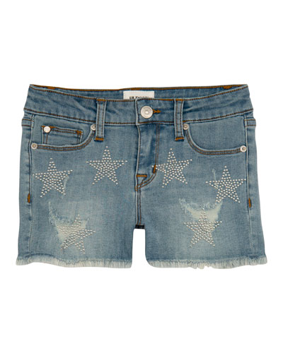 Girls' Celestina Distressed Studded Star Shorts  Size 7-16  and Matching Items
