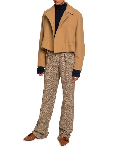 Snap-Front Jacket with Drawcord and Matching Items