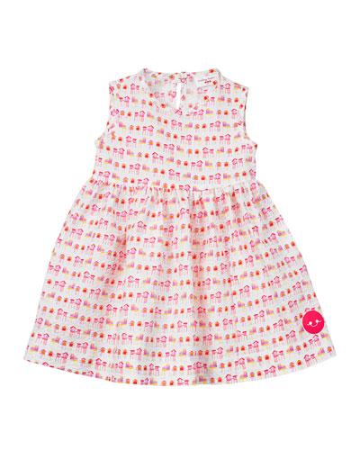 Summer House Sunset Print Seersucker Dress  Size 18M-6  and Matching Items
