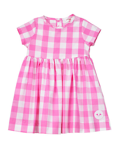 Bubble Gum Gingham Short-Sleeve Dress  Size 18M-6  and Matching Items