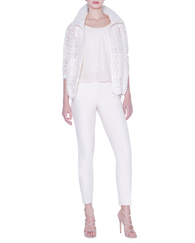 Daisy Embroidered Organza Jacket and Matching Items
