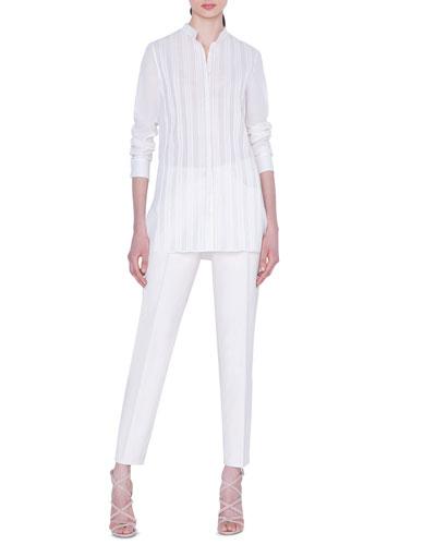 Magda Cotton-Silk Slim-Leg Pants and Matching Items