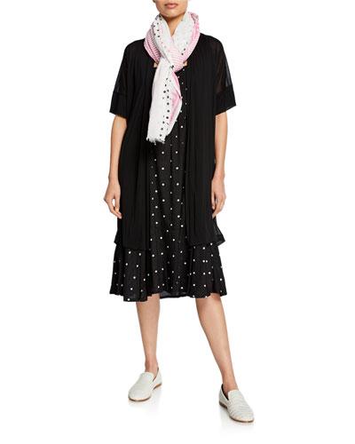 Ilensa Short-Sleeve Semi-Sheer Cardigan  and Matching Items