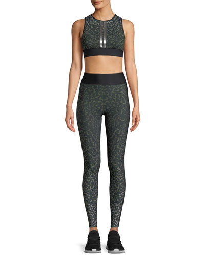 Ultra-High Leo Camo Leggings with Side Stripes and Matching Items