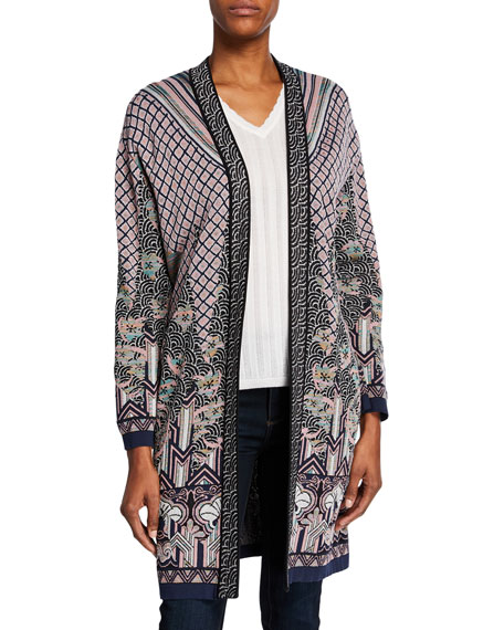M Missoni Open-Front Patterned Jacquard Duster