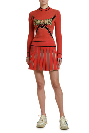 Off-White SWANS Collegiate Sweater SWANS Collegiate Cheerleader Skirt
