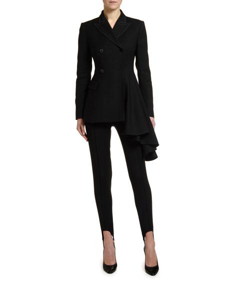 Off-White Draped-Side Wool Blazer Jacket