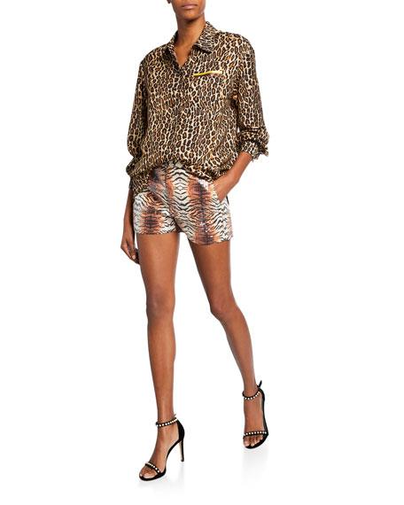 Le Superbe Future Ex BF Leopard Button-Up Shirt