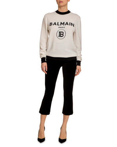 Wool-Cashmere Logo-Knit Sweater and Matching Items