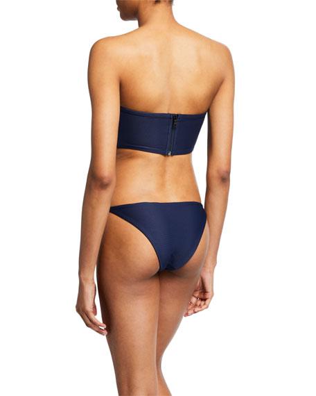 Onia Julie Ribbed Bandeau Bikini Top