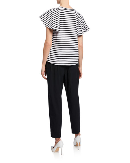 A.L.C. Carrie Striped Crewneck Short-Sleeve Top
