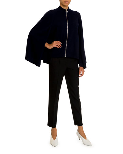 Caped Zip-Front Sweater and Matching Items