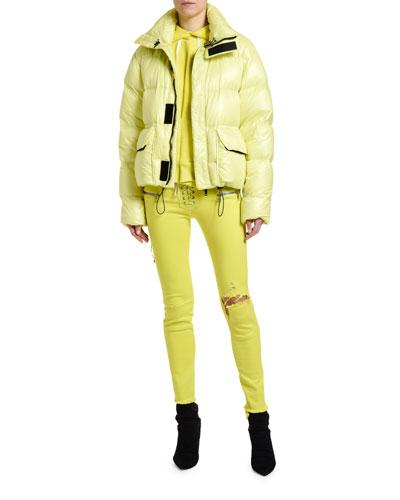 Shiny Nylon Puffer Coat and Matching Items