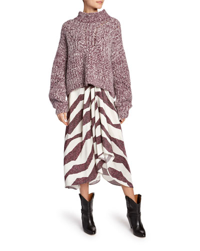 Rebeca Zebra Print Asymmetric Skirt and Matching Items