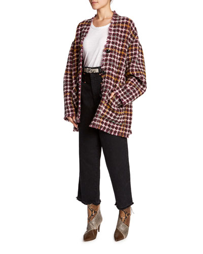 Dianaly Checked Tweed Coat and Matching Items