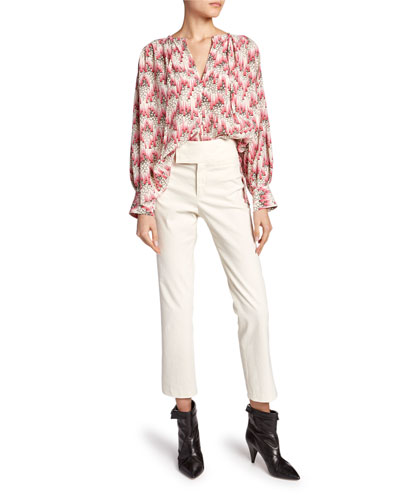 Amba Long-Sleeve Abstract Blouse and Matching Items