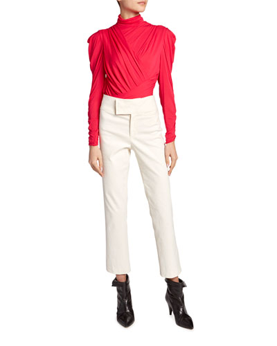 Jalford Ruched Jersey Turtleneck Blouse and Matching Items