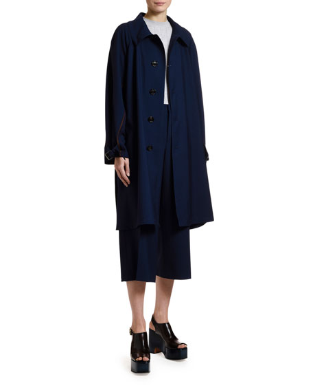 Marni Tropical Wool Button-Front Coat