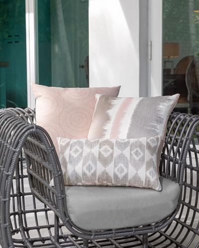 Murmur Whisper Lumbar Sunbrella Pillow  and Matching Items