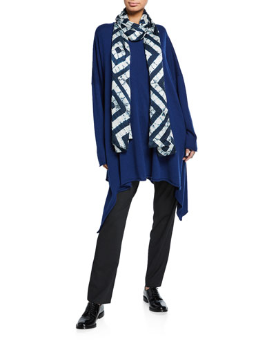 Cascading Side Bateau-Neck Shirt and Matching Items