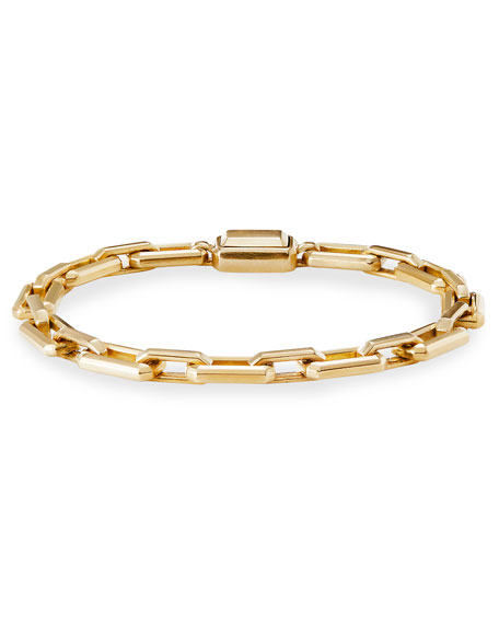 David Yurman Novella 18k Gold Bracelet, Size Large
