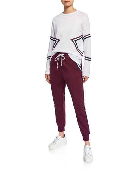 The Upside Beaumont Long-Sleeve Striped Active Top