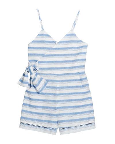 Perla Stripe Wrap Sleeveless Romper  Size 4-6X  and Matching Items