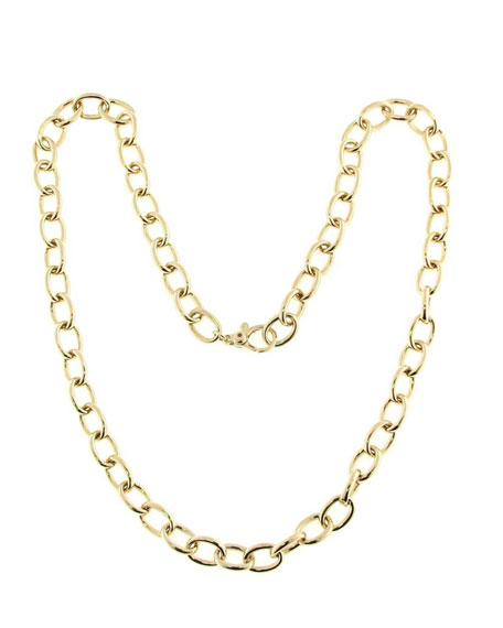 Roberto Coin 18k Gold Round Link Chain Necklace