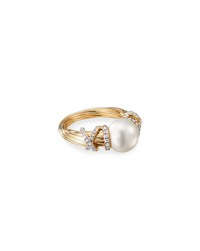 Helena 18k Pearl & Diamond Ring  Size 7 and Matching Items