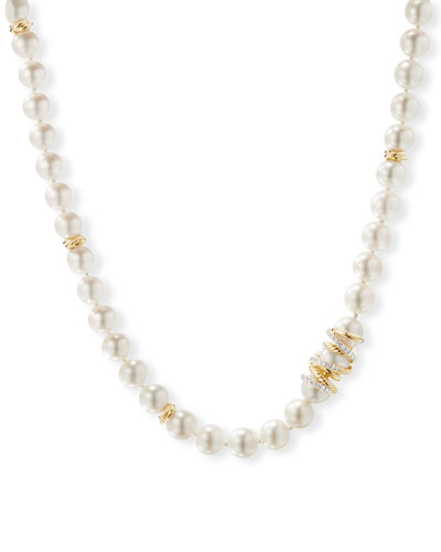 Helena 18k Pearl-Strand Necklace w/ Diamonds  18L and Matching Items