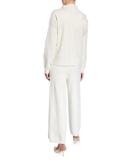 Joan Vass Plus Size Pearlescent Trim Zip-Front Sweater Jacket