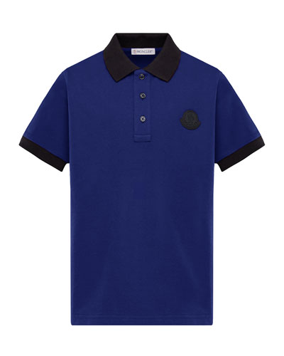 Contrast-Trim Polo Shirt  Size 8-14  and Matching Items
