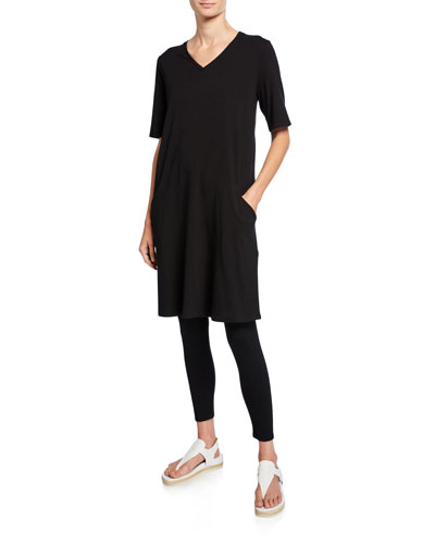 V-Neck Short-Sleeve Jersey Dress and Matching Items