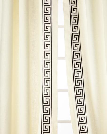 "Home Silks Felix Curtain Panels, 108"""