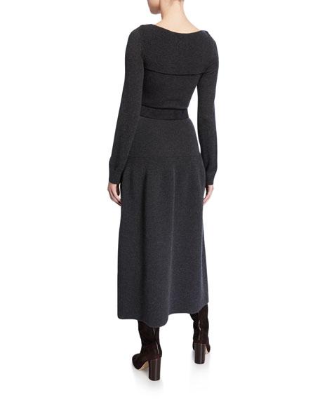 Loro Piana Kensington Long Cashmere-Knit Dress