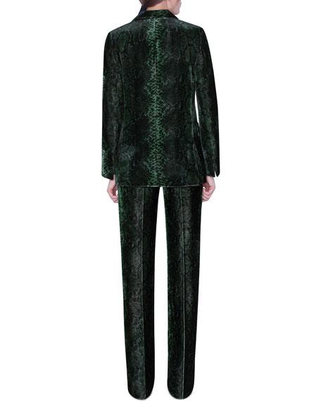 Akris Python-Print Velvet Jacket